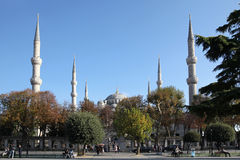 Sultan Ahmed Mosque, or blue mosque, in Istanbul Royalty Free Stock Photography
