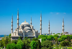 Sultan Ahmed Mosque (Blue mosque) in Istanbul Stock Images