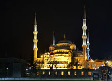 Sultan Ahmed Mosque (Blue mosque) in Istanbul. Turkey.  Royalty Free Stock Photography