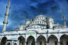 Sultan Ahmed Mosque or Blue Mosque in Istanbul, Turkey Stock Images