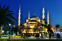 Sultan Ahmed Mosque or Blue Mosque in Istanbul, Turkey Stock Photography