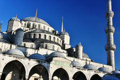 Sultan Ahmed Mosque or Blue Mosque in Istanbul, Turkey Royalty Free Stock Photos