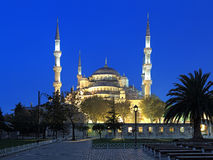 Sultan Ahmed Mosque am frühen Morgen, Istanbul, die Türkei Lizenzfreies Stockfoto
