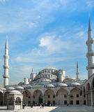 The Sultan Ahmed Mosque. The interior court of the Sultan Ahmed Mosque (The Blue Mosque) in Istanbul. The mosque was built from 1609 to 1616, during the rule of Stock Image