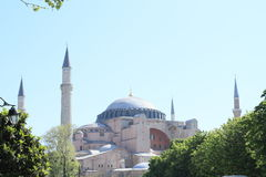 Hagia Sofia in Istanbul. Former church and mosque and current museum Hagia Sofia in Istanbul, Turkey Stock Photography