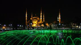 Sultan Ahmed Mosque Istanbul city night street photo Stock Photo