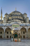 Sultan Ahmed Mosque, Istanbul. The Sultan Ahmed Mosque known as the Blue Mosque is an historic mosque in Istanbul. View from inner courtyard Royalty Free Stock Images