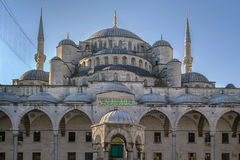 Sultan Ahmed Mosque, Istanbul. The Sultan Ahmed Mosque known as the Blue Mosque is an historic mosque in Istanbul. View from inner courtyard Stock Photo