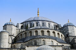 Sultan Ahmed Mosque known as the Blue Mosque in Istanbul, Turkey Stock Photos