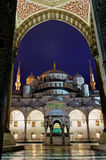 Sultan Ahmed Mosque known as the Blue Mosque in Istanbul, Turkey Royalty Free Stock Images