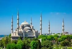Sultan Ahmed Mosque (mesquita azul) em Istambul imagens de stock