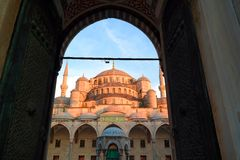 Sultan Ahmed Mosque in Turkey Royalty Free Stock Photos