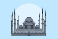 Sultan Ahmed Mosque - Turkey Vector Design royalty free illustration