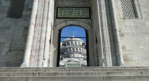 Sultan Ahmet - blauwe moskee, Istanboel in Turkije Royalty-vrije Stock Afbeeldingen