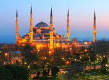 Sultan Ahmet Blue Mosque Dusk Royalty Free Stock Photo