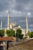 Sultan Ahmet Camii ( Blue Mosque ) glows in early evening light Stock Photos
