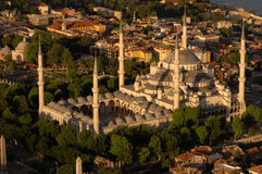 Sultan Ahmet Camii - Blue Mosque in Istanbul, Turkey. Blue Mosque aerial view, Istanbul - Turkey stock photography