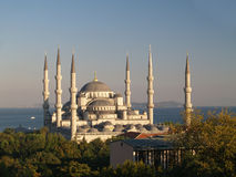 Sultan Ahmet camii. Most famous as Blue mosque. Main mosque of Istanbul - Sultan Ahmet camii. Most famous as Blue mosque Royalty Free Stock Photography