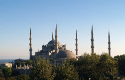 Sultan Ahmet camii. Most famous as Blue mosque. stock photography