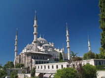 Sultan Ahmet camii. Most famous as Blue mosque. Main mosque of Istanbul - Sultan Ahmet camii. Most famous as Blue mosque Stock Photo