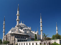 Sultan Ahmet camii. Most famous as Blue mosque. Royalty Free Stock Photo