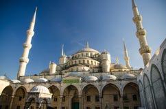 Sultan Ahmet Camii nomeou Azul Mesquita, Istambul, Turquia foto de stock