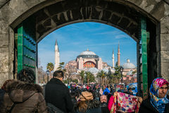 Sultan ahmet and Hagia Sophia in Istanbul, Turkey Royalty Free Stock Photos