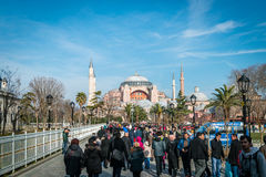 Sultan ahmet and Hagia Sophia in Istanbul, Turkey Stock Images