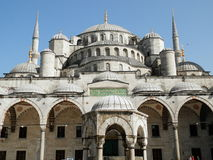 Sultan Ahmet moské i Istanbul Arkivbild