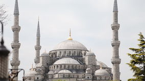 Sultan Ahmet Mosque architecture also known as the stock video