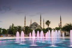 Sultan Ahmet Mosque auf Sonnenuntergang Lizenzfreie Stockfotografie