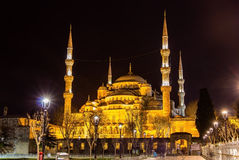 Sultan Ahmet Mosque (Blue Mosque) in Istanbul royalty free stock image