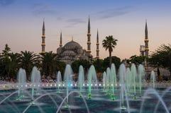 Sultan Ahmet Mosque en puesta del sol Imagen de archivo