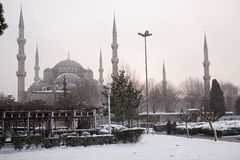 Sultan Ahmet Mosque no dia nevado Foto de Stock