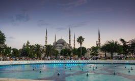 Sultan Ahmet Mosque no por do sol Fotografia de Stock Royalty Free