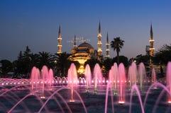 Sultan Ahmet Mosque op zonsondergang Stock Foto's