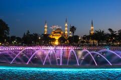 Sultan Ahmet Mosque op zonsondergang Stock Afbeeldingen