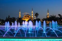 Sultan Ahmet Mosque op zonsondergang Royalty-vrije Stock Foto