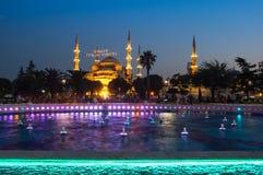 Sultan Ahmet Mosque op zonsondergang Royalty-vrije Stock Fotografie