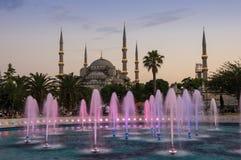 Sultan Ahmet Mosque op zonsondergang Royalty-vrije Stock Afbeelding