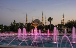 Sultan Ahmet Mosque op zonsondergang Royalty-vrije Stock Afbeeldingen
