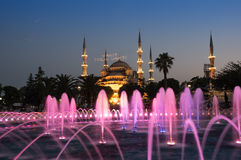 Sultan Ahmet Mosque on sunset Royalty Free Stock Images