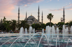 Sultan Ahmet Mosque on sunset Stock Photography