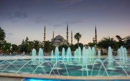 Sultan Ahmet Mosque sur le coucher du soleil Photos libres de droits