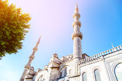 Sultan Ahmet Mosque. Turkey on a sky background Royalty Free Stock Image