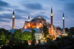 Sultan Ahmet Square, Costantinopoli, Turchia fotografia stock libera da diritti