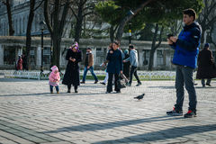 Sultan Ahmet square in Istanbul, Turkey royalty free stock images