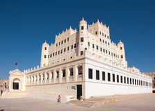 Sultan Al Kathiri palace in Seiyun, Yemen Royalty Free Stock Photos