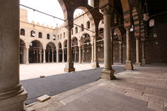 Sultan al Nasir Muhammad Mosque. CAIRO, EGYPT - FEBRUARY 24: Sultan al Nasir Muhammad Mosque Courtyard in Cairo on FEBRUARY 24, 2010. Mosque courtyard with Stock Photography