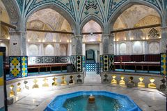Sultan Amir Ahmad Bathhouse in Kashan, Iran royalty-vrije stock foto